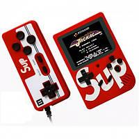 Портативная игровая ретро приставка консоль с дополнительным джойстиком dendy SEGA 8bit 400 игр SUP Game Box красный