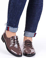 Женские туфли на низком ходу Geronea 19842, Коричневый, 37, 2999860273250