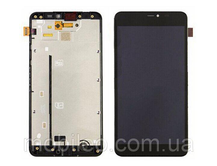 Дисплей (LCD) Microsoft 640 XL Lumia с тачскрином, чёрный, оригинал (PRC)