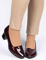 Женские туфли на каблуке Geronea 195301, Бордовый, 36, 2999860327748