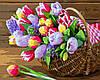 Картина по номерам Весна в корзинке 40*50см Brushme GX34812 Раскраска по цифрам, фото 2