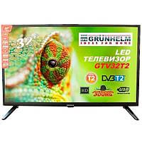 Телевизор 32 дюйма Grunhelm GTV32HD01T2 1366x768 (87902)