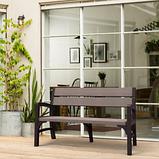 Тримісна лавка MONTERO TRIPLE SEAT BENCH графіт-свіло-сірий ( Keter ), фото 5