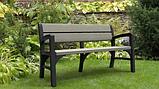 Тримісна лавка MONTERO TRIPLE SEAT BENCH графіт-свіло-сірий ( Keter ), фото 7