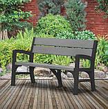 Тримісна лавка MONTERO TRIPLE SEAT BENCH графіт-свіло-сірий ( Keter ), фото 10