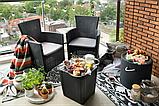 Комплект садових меблів MONTANA IOWA BALCONY SET графіт (Keter), фото 10