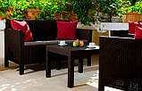 Комплект садових меблів зі штучного ротангу ORLANDO LOUNGE SET графіт ( Allibert ), фото 8