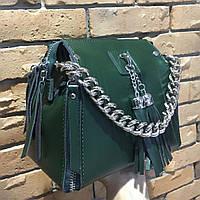 Зеленая Сумка натуральная кожа интернет магазин кожаных сумок Модная женская сумочка клатч