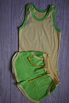 Комплект детский желтая майка зеленые шорты, фото 3