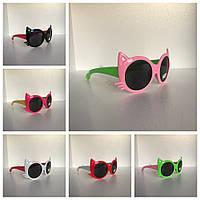 Солнцезащитные очки детские Кошачьи ушки опт