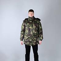 """Куртка зимняя для охоты и рыбалки """"Вольф"""" из белорусской ткани - пейнтбол"""