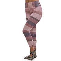 Лосины для фитнеса и йоги женские спортивные Леггинсы бежевые Lingo Полиэстер Коттон (HK84) S