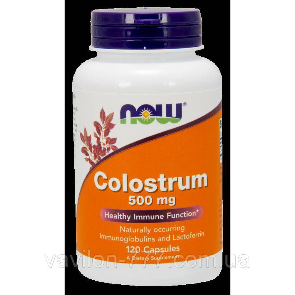 Молозиво, 500 мг, 120 растительных капсул.Now Foods.