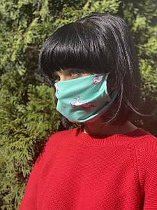 Тканевая хлопковая многоразовая маска Единорог