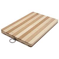 Доска разделочная деревянная в полоску 33*45см 10227