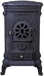 Піч буржуйка чавунна Bonro Black подвійна стінка 9 кВт (30000001)