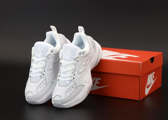 Nike M2K Tekno белые кожаные фото
