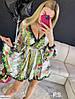 """Женское платье реплика luxury """"dg"""". Нежная приятная к телу шелковая ткань, пышная юбка и объёмный рукав., фото 2"""