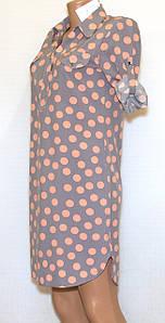 Плаття сорочка в горох (42-48)