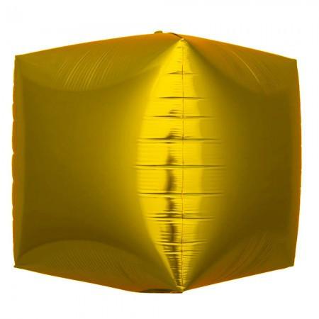 Шарик (30см) 4D Куб Золото матовый