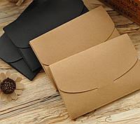Крафт конверт для пробников, мед.изделий, косметики и плоских товаров 16,5:11,5:0,4см с замком и расширением