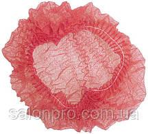 Шапочки одноразовые на одной резинке Polix, упаковка 100 шт., красные