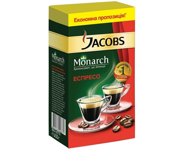 Кофе Jacobs Monarch Espresso молотый 450 г (4820187048871)