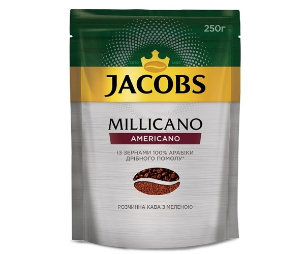 Кава Jacobs Millicano Americano розчинний 250 г (8714599103487)