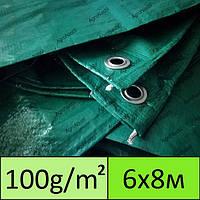 Тент полипропиленовый / тарпаулин 6х8 100g/m2