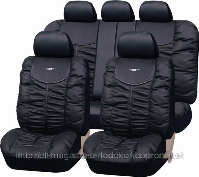 Чехлы на сиденья, PSV Элит качественная экокожа, черные.