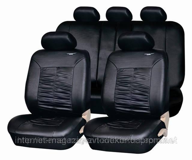 Чехлы на сиденья PSV Граф качественная экокожа, черные.
