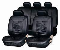 Чехлы на сиденья, кожзам PSV Граф (экокожа), черные