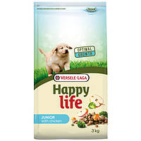 Cухой корм для щенков Happy Life Юниор со вкусом курицы 3 кг
