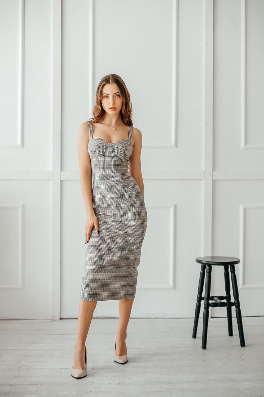 Повседневное женское платье длиной миди