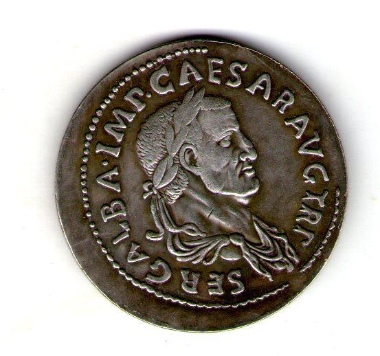 Монета Римская Империя  медный сплав, серебрение копия №8