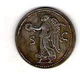 Монета Римская Империя  медный сплав, серебрение копия №8, фото 2