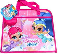 Папка портфель для девочек на змейке Шиммер и Шайн