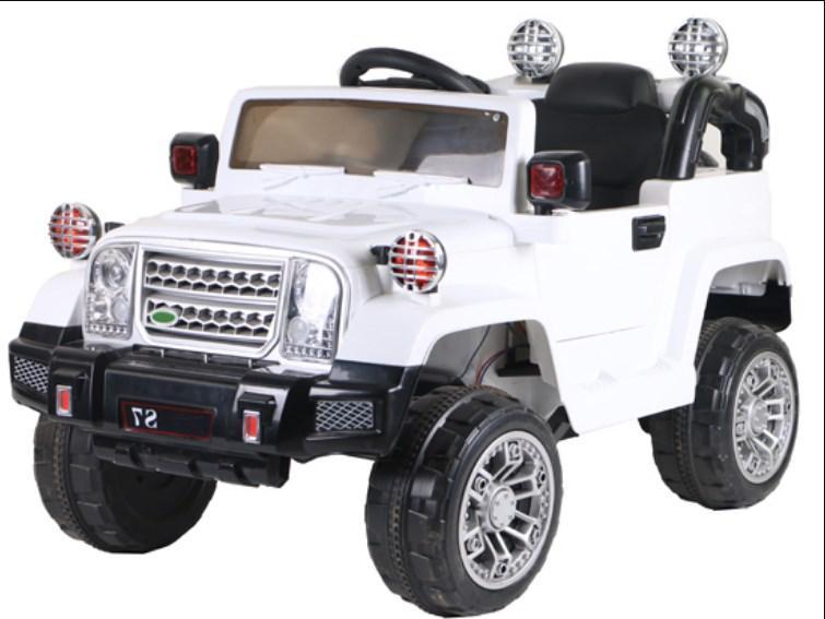 Детский электромобиль T-7838 White Jeep, белый