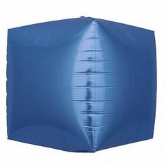 Шарик (30см) 4D Куб синий матовый