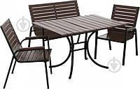Комплект садовой мебели на 4 персоны (диван и 2 кресла)
