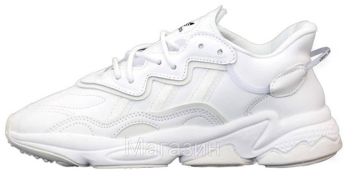 Мужские кроссовки adidas Ozweego White (Адидас Озвиго) белые