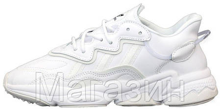 Мужские кроссовки adidas Ozweego White (Адидас Озвиго) белые, фото 2