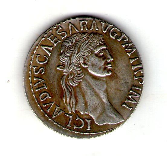 Монета Римская Империя  медный сплав, серебрение копия №10