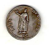 Монета Римская Империя  медный сплав, серебрение копия №10, фото 2