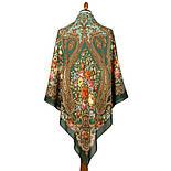 Берегиня 1049-9, павлопосадский платок из вискозы с подрубкой, фото 5