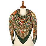 Берегиня 1049-9, павлопосадский платок из вискозы с подрубкой, фото 3