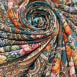 Берегиня 1049-9, павлопосадский платок из вискозы с подрубкой, фото 8