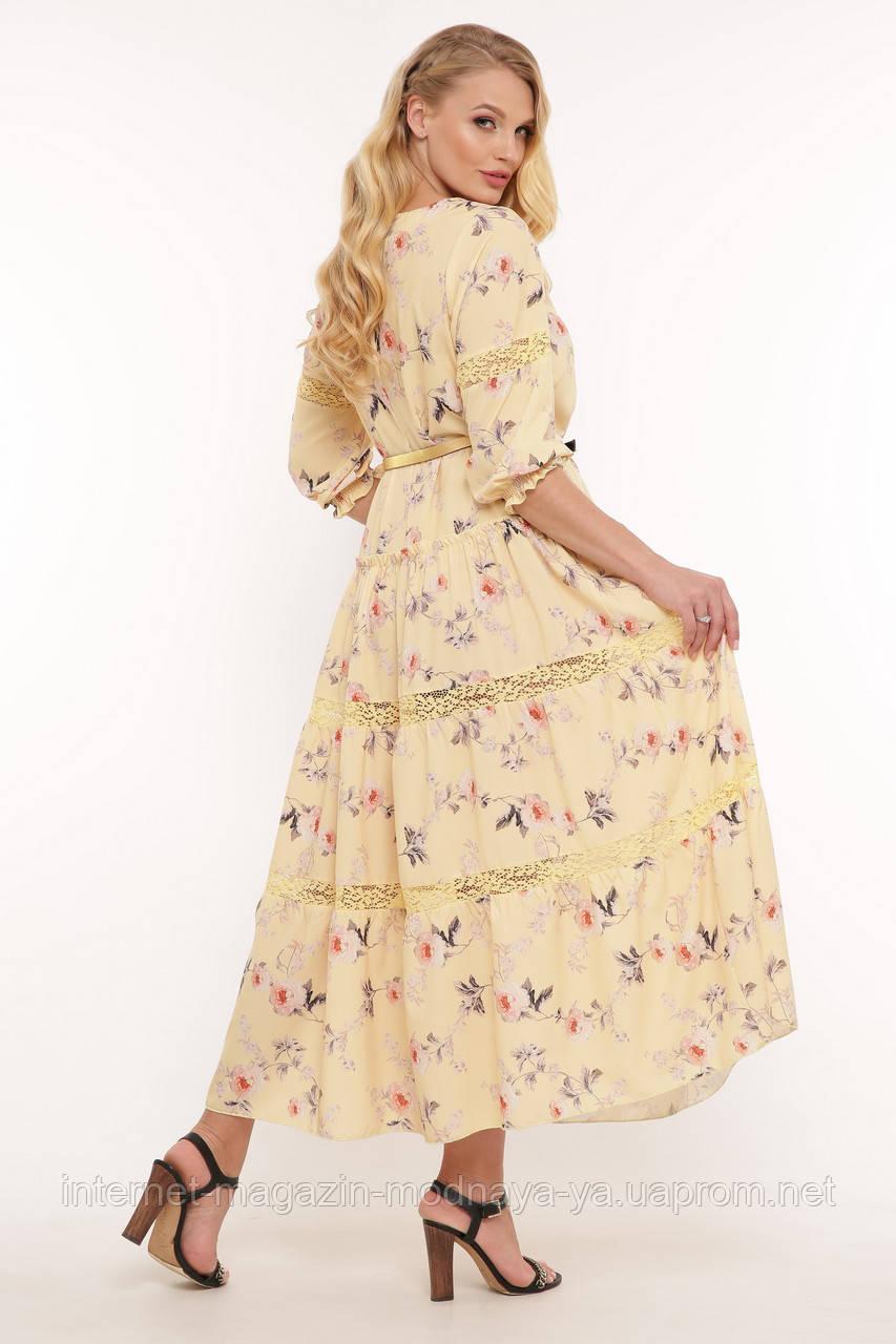 Летнее женское платье макси Анна р. 54-58