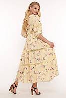 Летнее женское платье макси Анна р. 54-58, фото 1