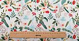 Набір тканини для рукоділля Кораловий з рослинними орнаментами - 8 відрізів 40*50 см, фото 7